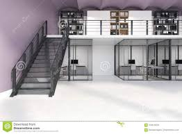 Double Storey Stairs Designs White Double Storey Office Stock Illustration Illustration