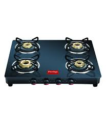 Prestige Kitchen Appliances Prestige Gtm04 Black 4 Burner Glass Manual Gas Stove Price In