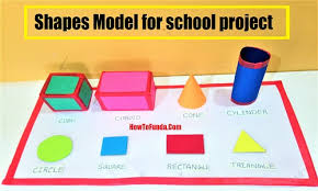 Maths Chart Work For Exhibition Shapes Model For School Project Mathematics Models Diy