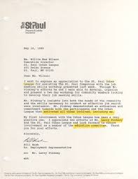 the st paul companies letter regarding job seeking skills 16 1989 the st paul letter