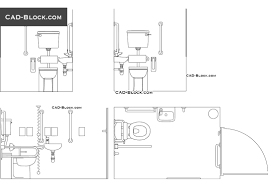 disabled toilet free cad file