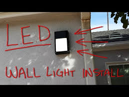 outdoor led lighting install you