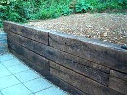 plans railway sleepers retaining wall diy wood plans