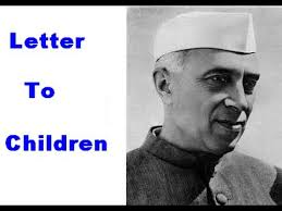 thought provoking letter from nehru to children in