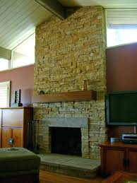 reface stone fireplace stack stone refacing a stone fireplace diy
