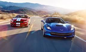 Corvette chevy corvette 2016 : 2016 Chevrolet Corvette Stingray Z51 vs. 2016 Ford Mustang Shelby ...