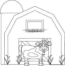 Barn Animals Coloring Pages Barn Coloring Sheet Barn Coloring Page