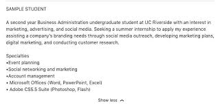How To Use Linkedin With Linkedin Summary Examples For Students