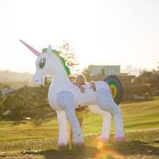 life size unicorns giant life size 6 foot inflatable unicorn flamingo gifts