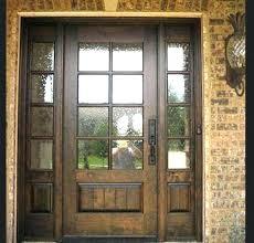 wooden front door with glass panels furniture glass panels for front doors stained glass front door