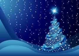 Nálepka Pixerstick Modrý vánoční stromeček se sněhem • Pixers® • Žijeme pro  změnu
