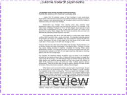 leukemia research paper outline research paper writing service leukemia research paper outline leukemia research papers karli 14 10 2015 22