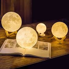 3d printed moon lamp led