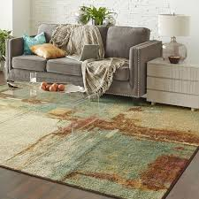 What Size Area Rug For Living Room Living Room Decorating Vintage Round Area Rugs With Brown Leather