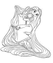 Coloriage Princesses Disney Raiponce