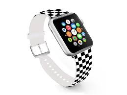 for apple watch band 38mm ecute replacement band leather iwatch strap with silver metal clasp