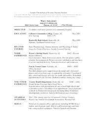 Graduate Nursing Resume Resume Objectives For Nursing New Graduate ...