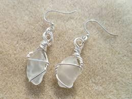 white sea glass earrings white sea glass earrings