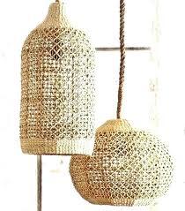 woven seagrass pendant light lamp shade