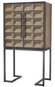 Casa Padrino Luxury Wine Cabinet With 2 Doors Brown Dark Brown Black 95 X 58 X H 1685 Cm Bar Furniture Luxury Quality