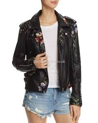 women s moto blanknyc fashion fl embroidered studded faux leather moto jacket in as you wish