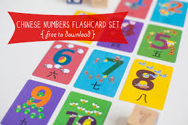 Cantonese Chinese Numbers Flashcard Printable  Gus On The Go Make Flash Cards Free