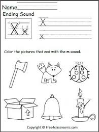 Listen and fill in the final sound grade/level: Ending X Sound Kindergarten Worksheets Kindergarten Letters Kindergarten