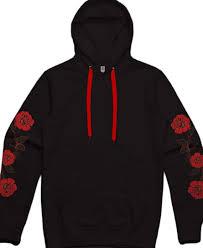 Black Hoodie With Design Amazon Com Mens Black Red Roses Pullover Hoodie Flower