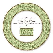 frame redondo retro vine oriental
