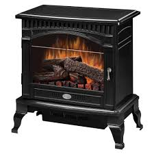 electric stove in gloss black