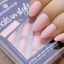 Essence Umělé Nehty Lesklé Růžové Tělové V Sadě Artifical Nails Glazed Nudes 12ks