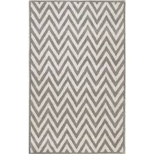 zig zag rug blue and white gray