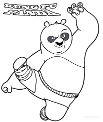 Kung Fu Panda Coloring Pages Coloringsuitecom
