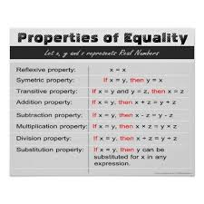Properties Of Equality Math Poster Zazzle Com Math