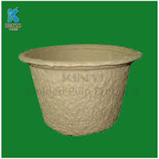 Biodegradable Paper With Flower Seeds Custom Eco Friendly Molded Paper Pulp Flower Pot Seed Tray Flower