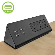 power socket center edge mount with 3 ac power 4 usb charging ports