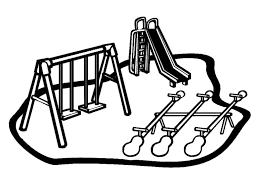 Disegno Di Parco Giochi Da Colorare Per Bambini