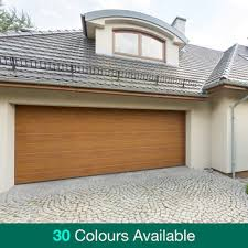 birkdale automatic sectional garage door with installation up to 5m wide costco uk