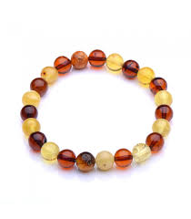 colorful round beads amber bracelet genuine baltic amber handmade amber jewelry