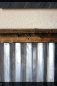 corrugated steel wainscoting with rough wood trim metal walls roof 1 2 corrugated metal trim panel