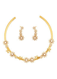 Dubai Gold Designs Online Shop Touchstone Floral Design Necklace And Earrings Set Online In Dubai Abu Dhabi And All Uae