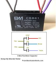 ceiling fan wiring diagram 5 wire ceiling fan capacitor throughout wiring diagram electrical design on ceiling fan wiring