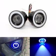 Blue Led Running Lights 2 5 Inch 64mm 30w 12v Car Universal Cob Led Angel Eyes Light