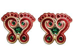 Laxmi Pagla Designs Amazon Com Handmade Pagla Laxmi Charan Diwali Floor Rangoli