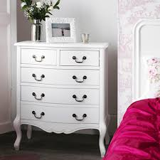 Juliette Shabby Chic White Bedside Table, 1 Drawer Bedside Cabinet