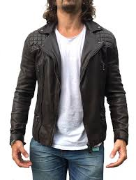 here we have a sold out spitalfields brown grey all saints rowley biker leather jacket in very good used condition in slim fitting