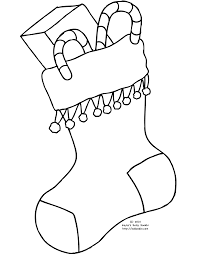 Small Picture Stocking Coloring Page 6436