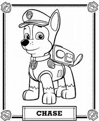 New Paw Patrol Chase Badge Coloring Page Nichome