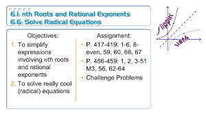 6 1 nth roots and rational exponents 6