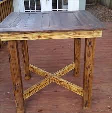 reclaimed pallet high top dining table 58 diy pallet dining tables diy to make